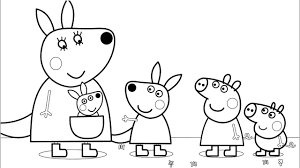 peppa pig friends fun art coloring pages colored