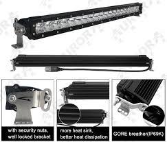20 single row led light bar 20 inch single row led light bar nox lux