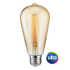 philips 40w equivalent soft white st19 dimmable led vintage light