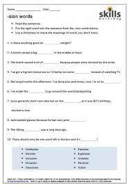 worksheets words ending in tion worksheet opossumsoft worksheets