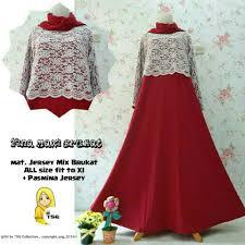 Baju Muslim Brokat gamis pesta fina brokat b054 model baju muslim remaja