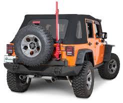 rugged ridge xtreme heavy duty rear bumper system in textured