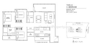 3 Bedroom Condo Floor Plan by Thomson Impressions Floor Plan 3 Bedroom Condo Sg