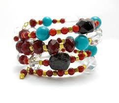 red wrap bracelet images Red wrap bracelet rock candy reclaimed jewelry jpg