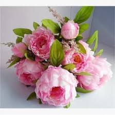 Fake Peonies 1 Bunch Hight Quality Fake Peony Artificial Flower Bouquet Home