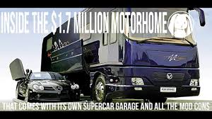 volkner mobil performance this 1 7 million motorhome has a garage with an lift youtube