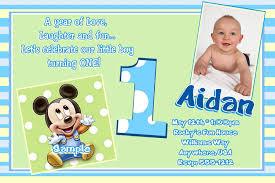 mickey mouse printable birthday invitations baby mickey mouse 1st birthday invitations free printable mickey