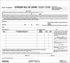bill of lading forms 10 sample bill of lading u2013 sample bill of