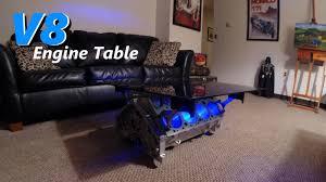 v8 engine block table with leds jordans latest project youtube