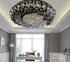 Remote Controlled Chandelier Post Modern Classic Fashion Stainless Steel Nest K9 Crystal