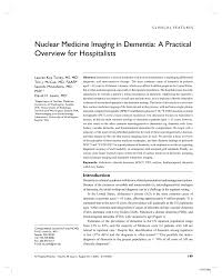 nuclear medicine imaging in dementia a practical overview for