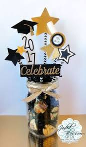 graduation center pieces graduation centerpiece glittered black and gold masonjar grad