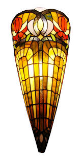 Stained Glass Wall Sconce Lighting Ch31315mi12 Ws1 Style 1 Light Mission