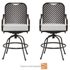 Motion Patio Chairs Brown Metal Patio Furniture Outdoor Dining Chairs Patio