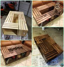 Dyi Coffee Table Diy Wood Crate Coffee Table Free Plans Picture