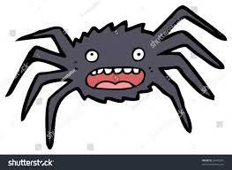 raster version halloween spider cartoon stock illustration