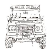 safari jeep drawing land rover defender 90 ink drawing land rover pinterest