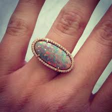 turquoise opal engagement rings diamond rings