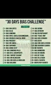 Challenge Que Significa 30 Days Bias Challenge Army S Amino Amino
