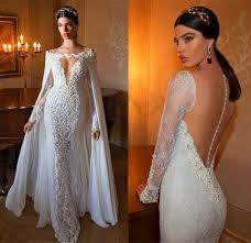 berta mermaid charming lace applique wedding dresses detachable