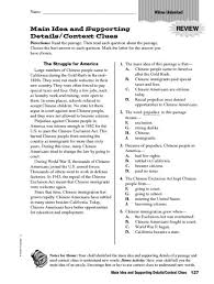 identifying main idea and supporting details worksheets worksheets