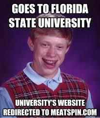 Florida State Memes - bad luck brian memes quickmeme