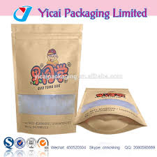 Brown Bags With Clear Window List Manufacturers Of Clear Standup Pouch Buy Clear Standup Pouch