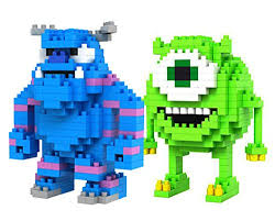 loz diamond blocks loz diamond blocks monsters inc mike wazowski and sulley 2 pcs set