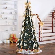 amazon com brylanehome 71 2 u0027 deluxe pop up christmas tree silver