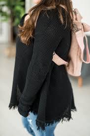 black fringe sweater juliette fringe sweater black mae s market