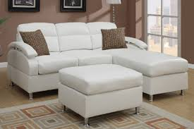 Leather Sectional Sofa With Ottoman by All In One Modern Bonded Leather Sectional Sofa With Ottoman