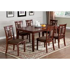 shop furniture of america montclair dark cherry 7 piece dining set