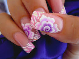 uñas rosa one stroke paso a paso one stroke rose nails step by
