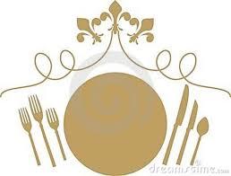 Fancy Place Setting Dinner Set Clipart 34