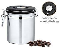 kitchen canister set coffee sugar tea stainless steel food storage