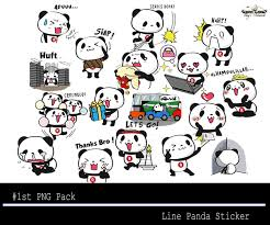 tutorial cara membuat line sticker 1st png pack line panda sticker little s thing
