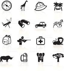 safari binoculars clipart black symbols safari stock vector art 165674012 istock