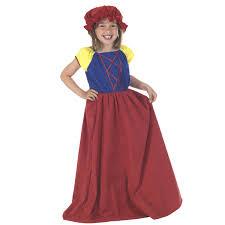 Girls Snow White Costume For Childrens Fairytale Fancy Dress