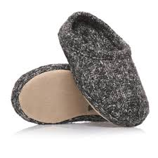 ruby and ed knit mule boys slippers charcoal free uk delivery