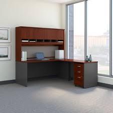 Mobile Reception Desk Bush Src003 Series C L Shaped 72