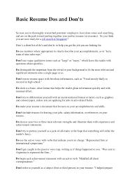 1 basic resume do u0027s and don u0027ts pdf