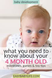 all about your 4 month old baby development milestones games