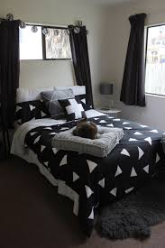monochrome bedroom decor black white and grey is life styling
