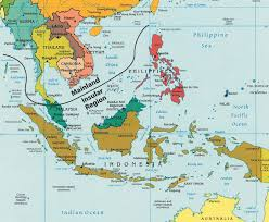Physiographic Map Of The United States by Southeast Asia
