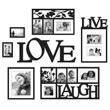 new home decor black wall hanging live love laugh 7 piece frames