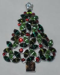 talbots tri green holly berry christmas tree pin mint in