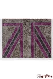 cm gray and purple color union jack british flag design patchwork rug