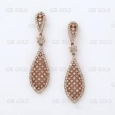 dangler earrings diamond gemstone earrings danglers chandeliers exporter from