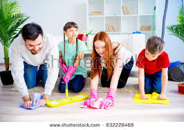 Cleaning House Family Cleaning House Stock Photo 632228600 Shutterstock