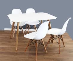 kitchen accent furniture dining table 120 x 80 and chairs set of 4 white dsw because of